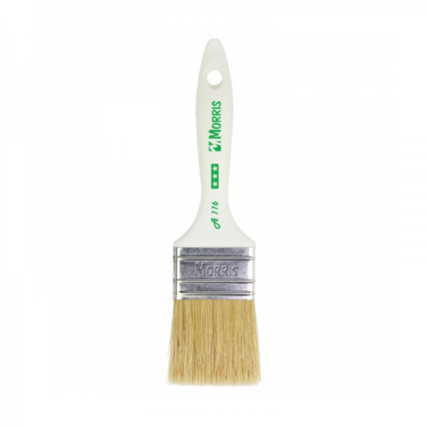 Morris Semi Double Flat Paint Brush 30 with Plastic Handle A116