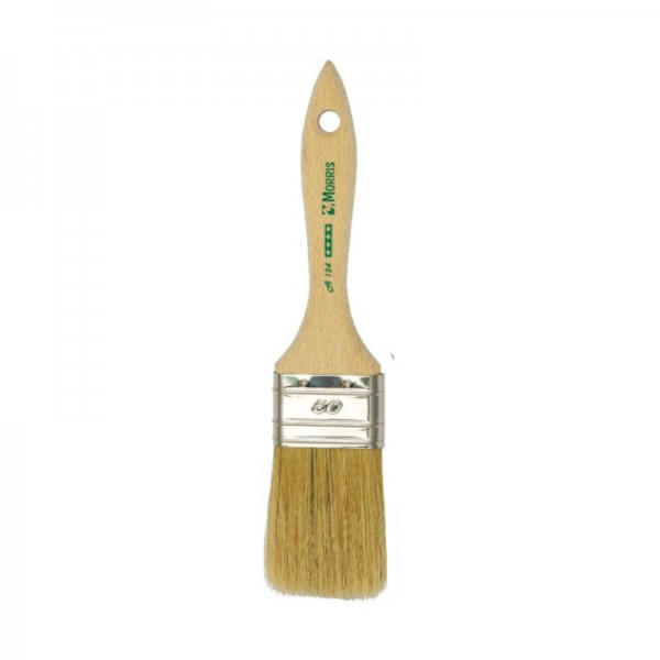 Morris Semi Double Flat Paint Brush 60 with Wood Handle A124