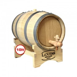 Lioutas Wooden Barrel for Wine 10lt with a Base and Spigot