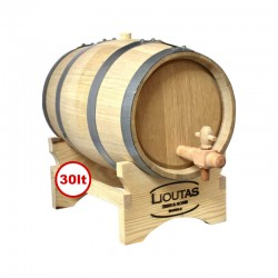 Lioutas Wooden Barrel for Wine 30lt with a Base and Spigot