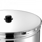 Stainless Steel Container 125lt D46 With a Simple Lid