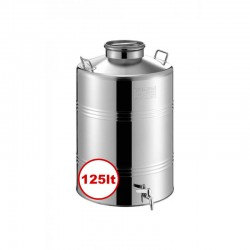 GP Stainless Steel Container 125lt D46 With Airtight Safety Lid