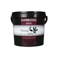 Mondobello Sabbioso gold διακοσμητικό χρώμα τεχνοτροπίας 0,75lt