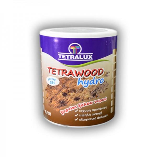 Tetrawood satin  Hydro Water Based Wood Varnish Tetralux 0,75lt