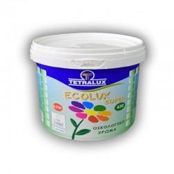 Tetralux πλαστικό οικολογικό χρώμα Ecolux Super 0,75lt