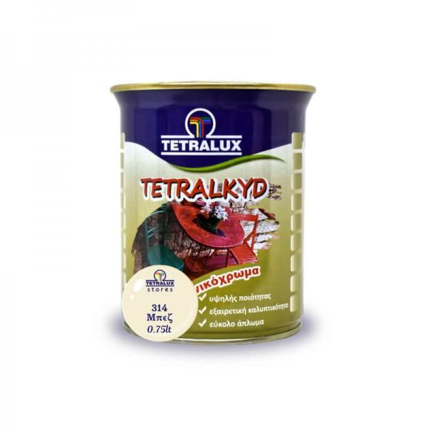 Tetralac Enamel Paint Gloss Beige 314 Tetralux 0.75lt